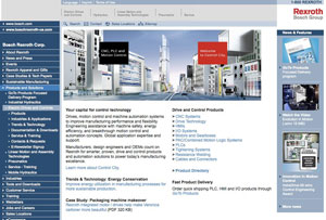 New Electric Drives and Controls Website from Bosch Rexroth