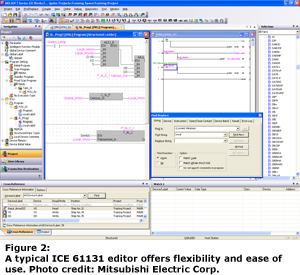 A typical ICE 61131 editor offers flexibility and ease of use