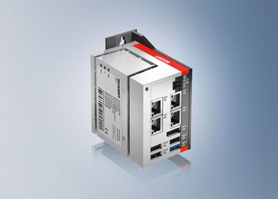The new ultra-compact C6017 IPC from Beckhoff offers a connector set extended by four interfaces and a UPS with minimally increased width when compared with the popular C6015.