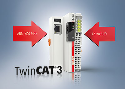 The new Beckhoff CX7000 Embedded PC is a cost-effective compact controller for TwinCAT 3 software that can be expanded as needed via I/O terminals.