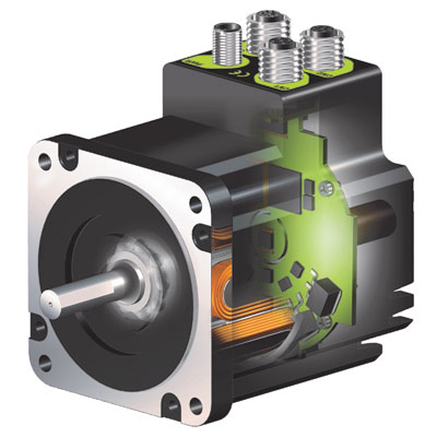 JVL closed-loop integrated stepper motors, QuickStep®, provide higher torque, faster acceleration, torque control, stall free operation and quieter movements than traditional step motor systems
