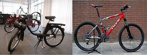 Two Bicycles Representing Encapsulation, Inheritance, and Polymorphism