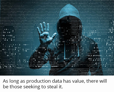 As long as production data has value, there will be those seeking to steal it.