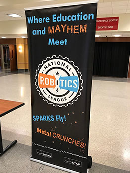 National Robotics League National Champtionship banner