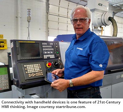 Connectivity with handheld devices is one feature of 21st-Century HMI thinking. Image courtesy startribune.com.