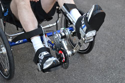 Recumbent trike with electrical stimulation