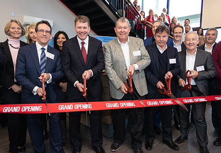 Grand opening and ribbon cutting of the new maxon precision motors location