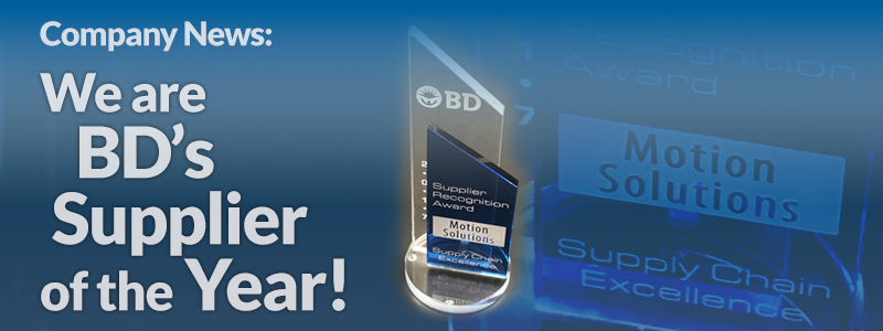 Motion Solutions Wins Supplier of the Year from BD