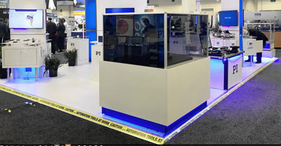 PI's booth at Photonics West 2018