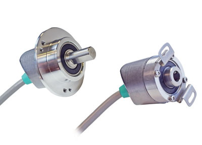 POSITAL Incremental Encoders with Angled Cable Entry