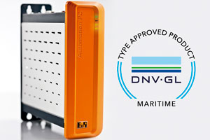 The Automation PC 910 has been certified for maritime applications by the DNV GL organization.